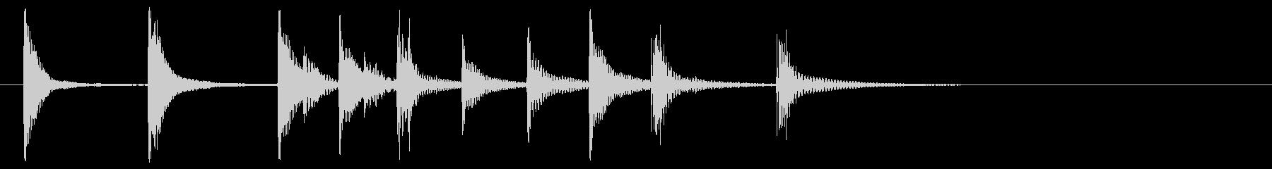 可愛らしい木琴ジングル_No538の未再生の波形