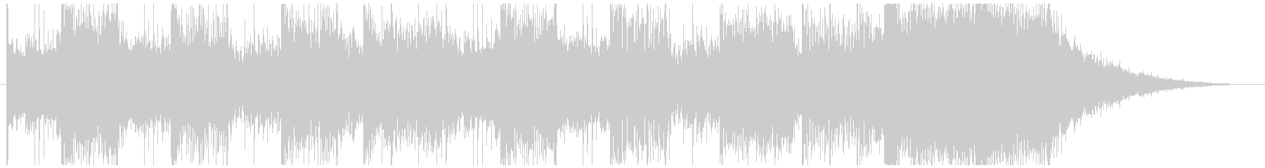 Synth and stylish sound logo's unreproduced waveform