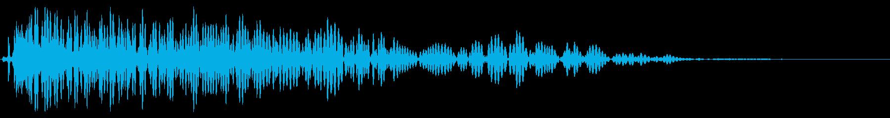 レーザーストライクの衝撃または爆発の再生済みの波形