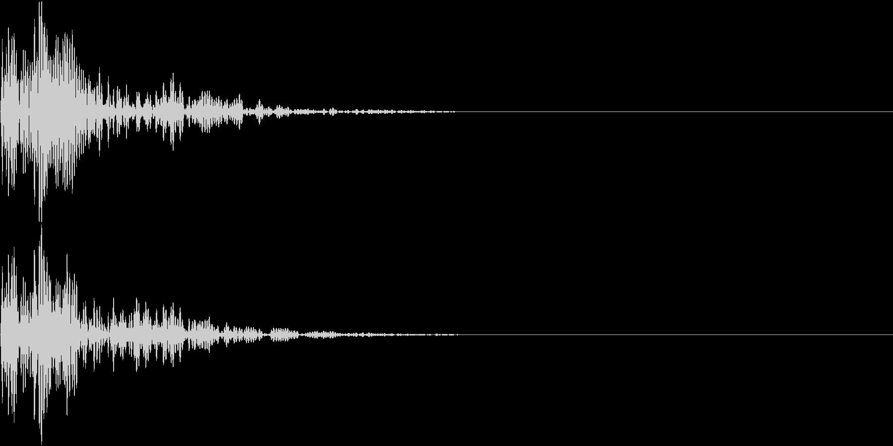 和太鼓 2連打・ドドンの未再生の波形