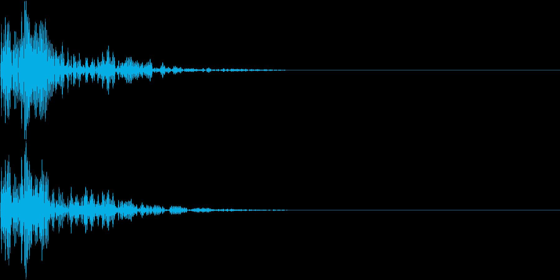 和太鼓 2連打・ドドンの再生済みの波形