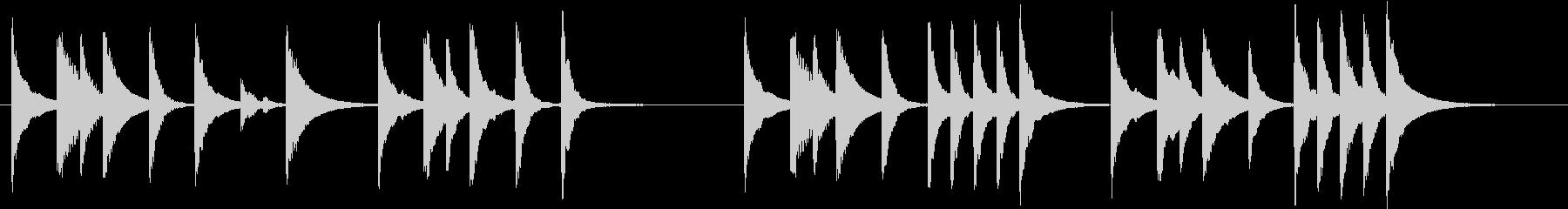 木琴で作ったコミカルな短いジングルの未再生の波形