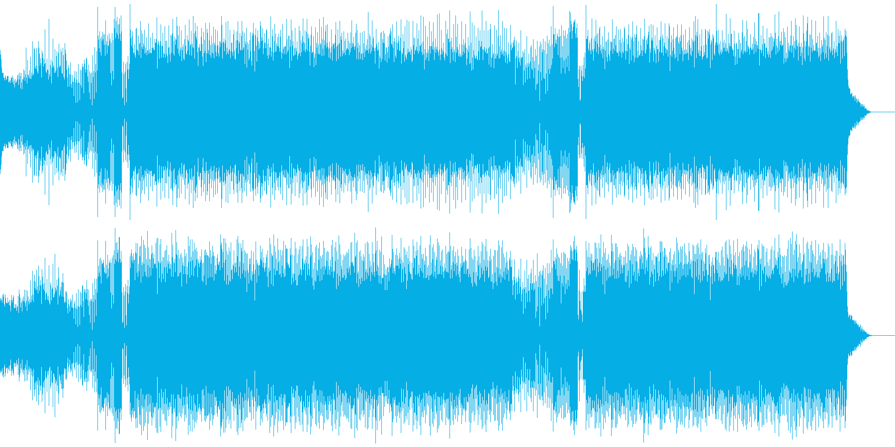 少しビンテージな雰囲気のエレクトロの再生済みの波形