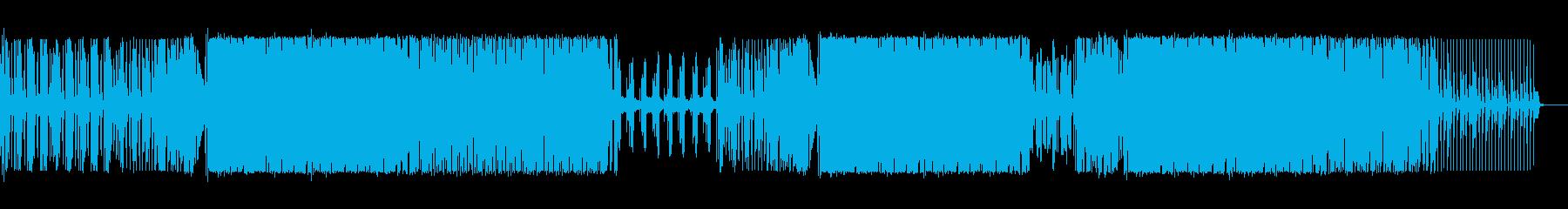 激しめのハウスの再生済みの波形