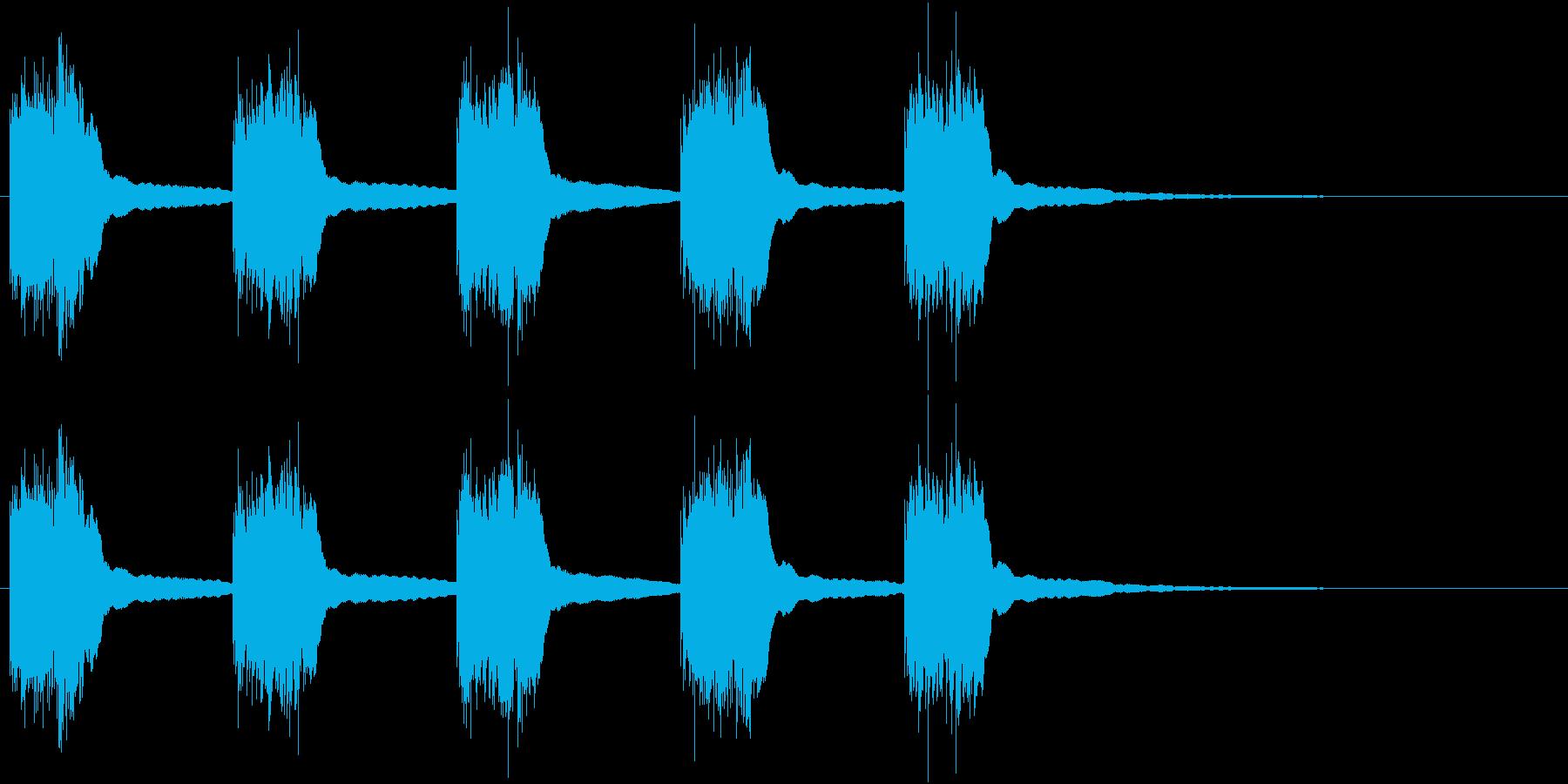 黒電話 着信音01-1の再生済みの波形