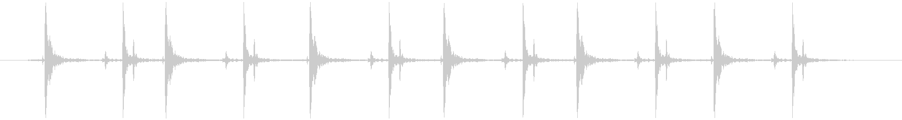 木のガラガラ(振る等 長め)カタカタカタの未再生の波形