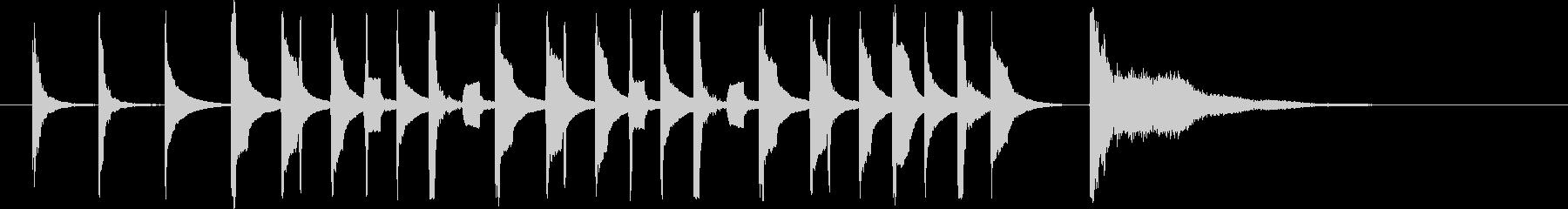 呑気なリコーダーとマリンバの未再生の波形