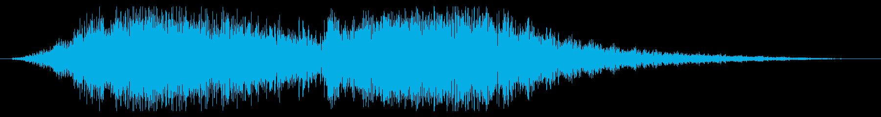 素材 SciFi Wind Wob...の再生済みの波形