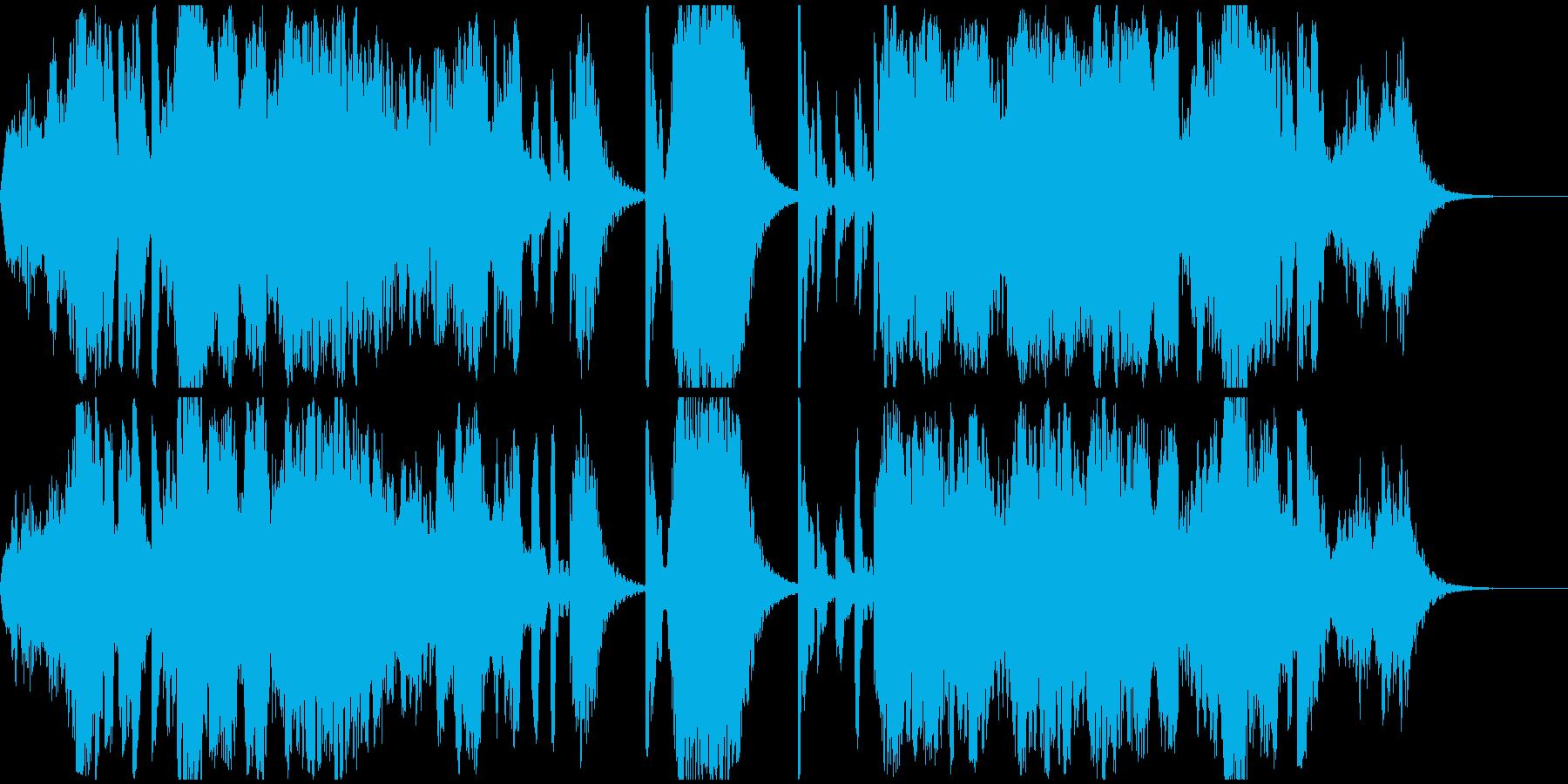 アジア的なヒーリング音楽(癒し,回想)の再生済みの波形