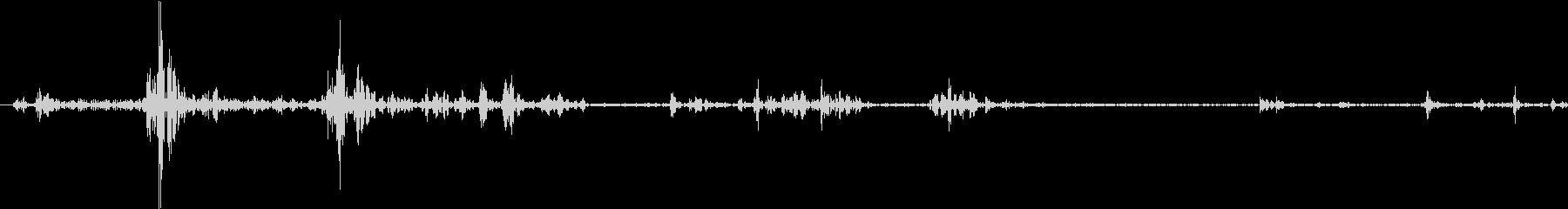 Tap ベチャッとした質感のタップ音 4の未再生の波形