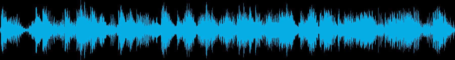 くねくねした不思議な環境音の再生済みの波形