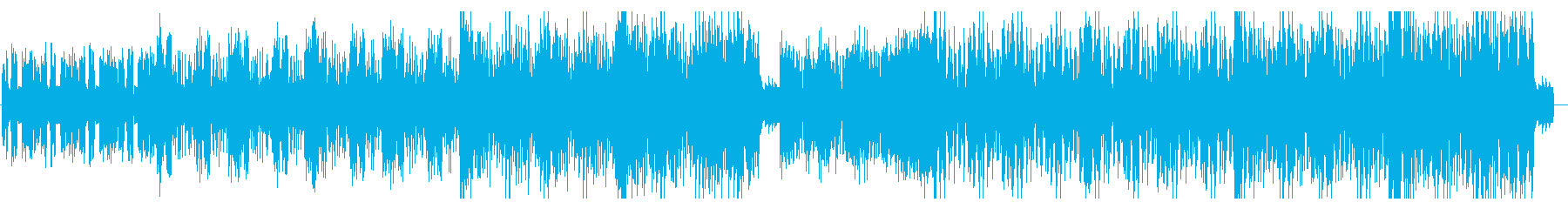 疾走感あるクラブジャズサウンドの再生済みの波形