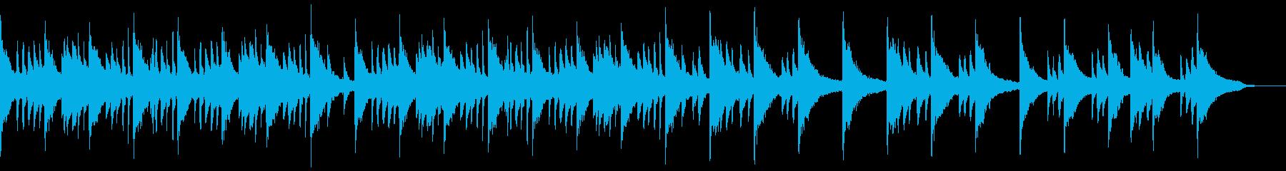 静かなピアノ曲ですの再生済みの波形