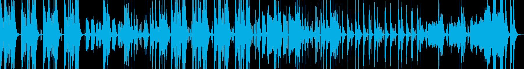 ゲームや動画のコミカル、おふざけBGMの再生済みの波形