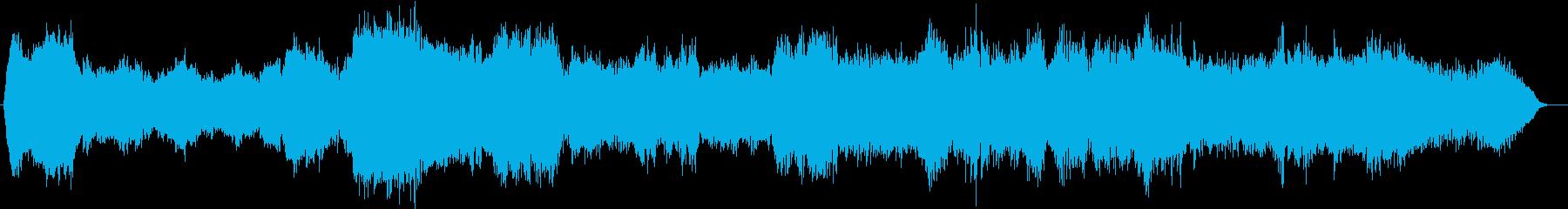 シンセパッドとピアノのアンビエントの再生済みの波形