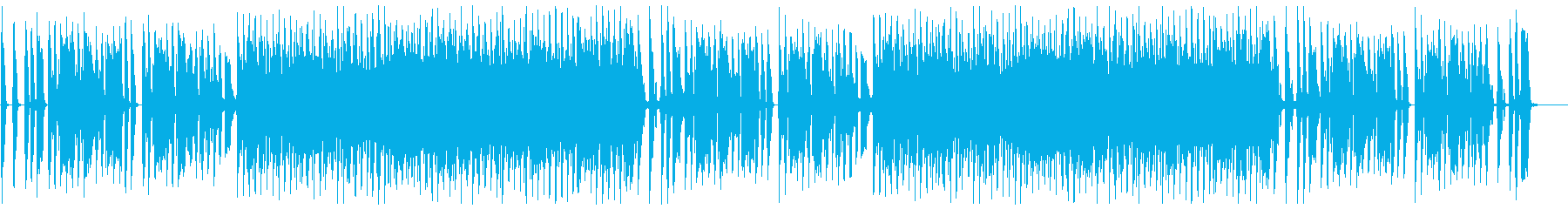 カントリーやラグタイム風のコミカル音楽の再生済みの波形