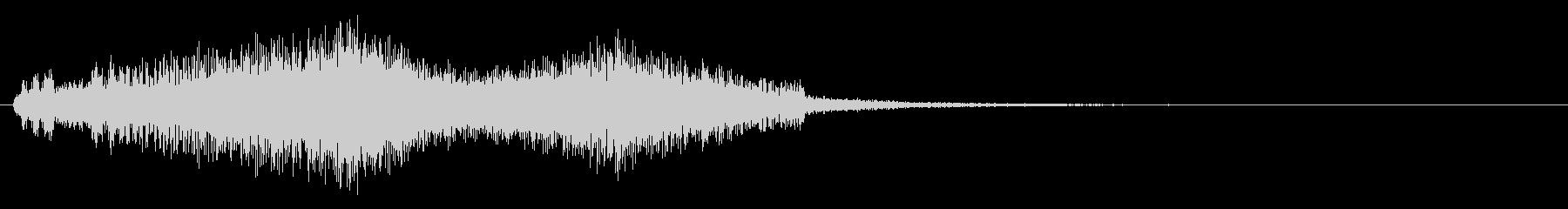 ワープ音(ポワポワ)の未再生の波形