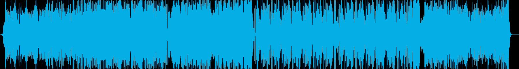 激しいビッグビート/メタルの再生済みの波形