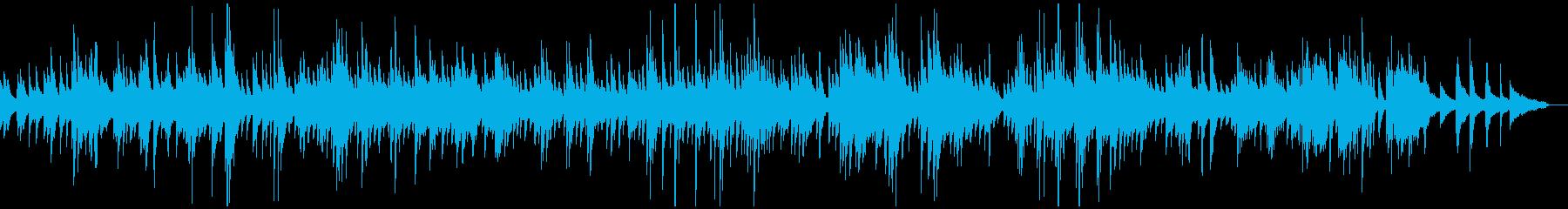 途絶え気味の哀愁あるフランス風ピアノの再生済みの波形