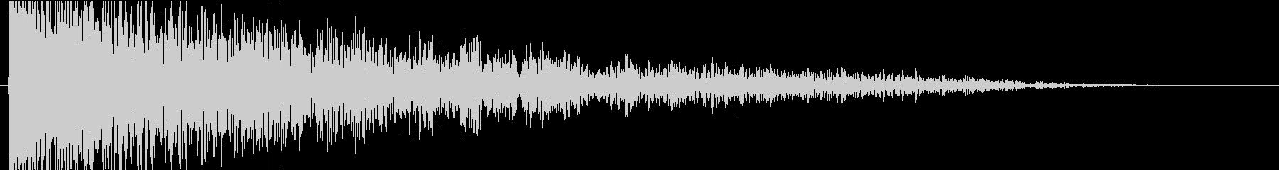 ドーン(巨大な衝撃音)音程C#onD#の未再生の波形