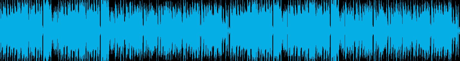 ゲーム、アプリ、ファミコン風サウンドの再生済みの波形