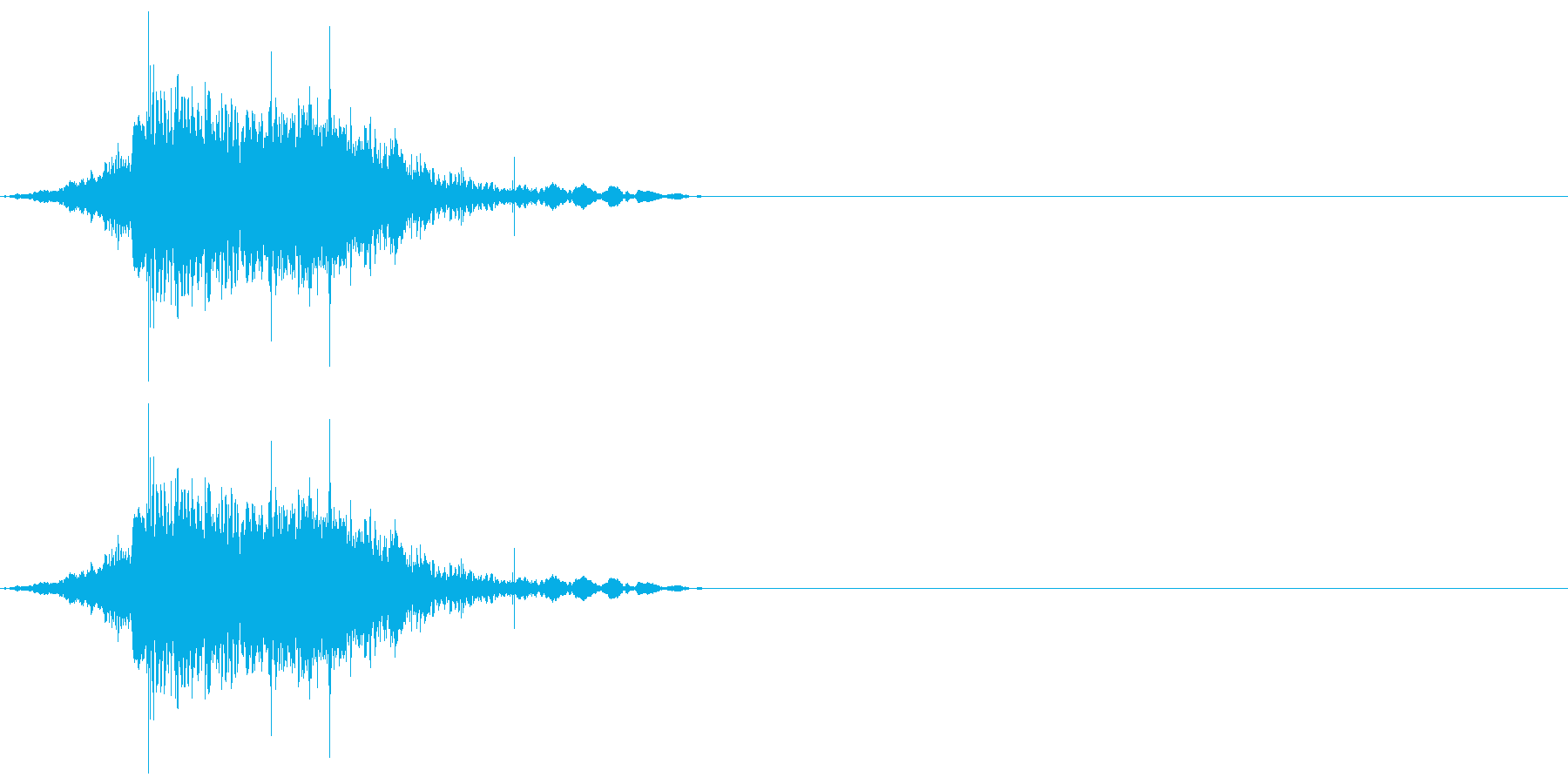【SE】ファイア、炎、火の魔法02の再生済みの波形