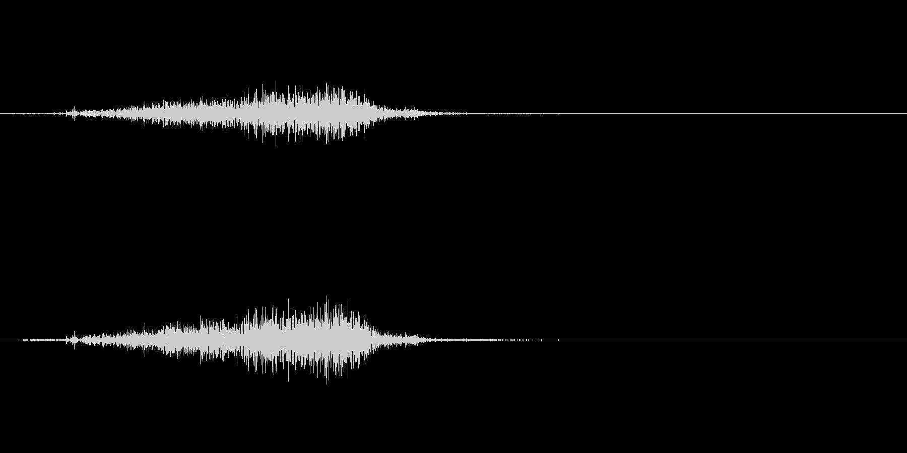 【生録音】 ティッシュを取る音 リアルの未再生の波形