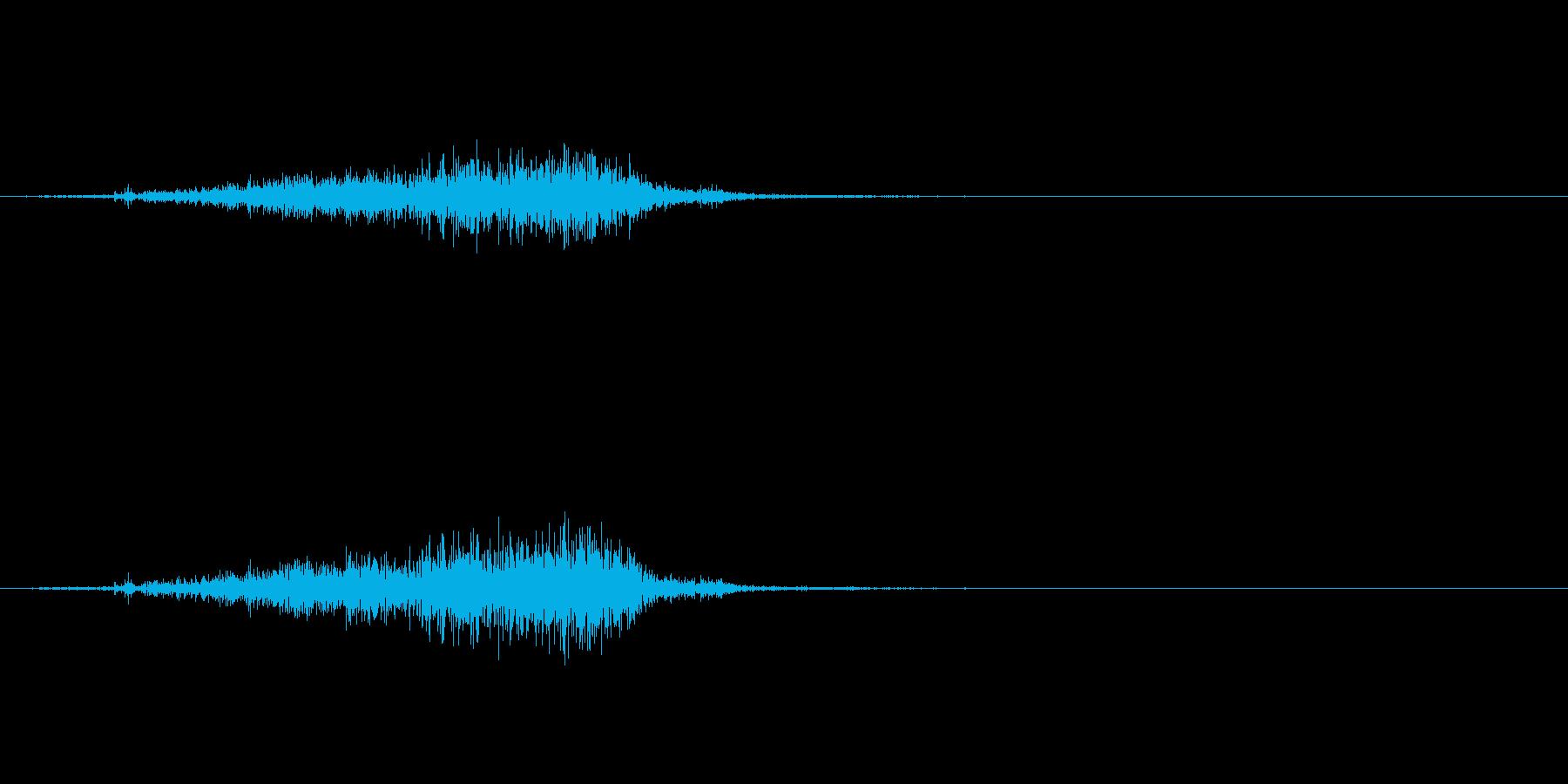 【生録音】 ティッシュを取る音 リアルの再生済みの波形