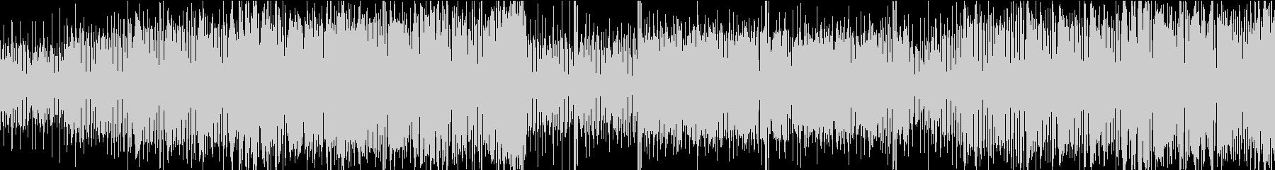 ループ仕様ファンキーなBGMの未再生の波形
