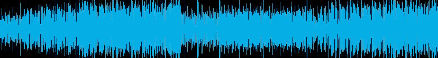ループ仕様ファンキーなBGMの再生済みの波形