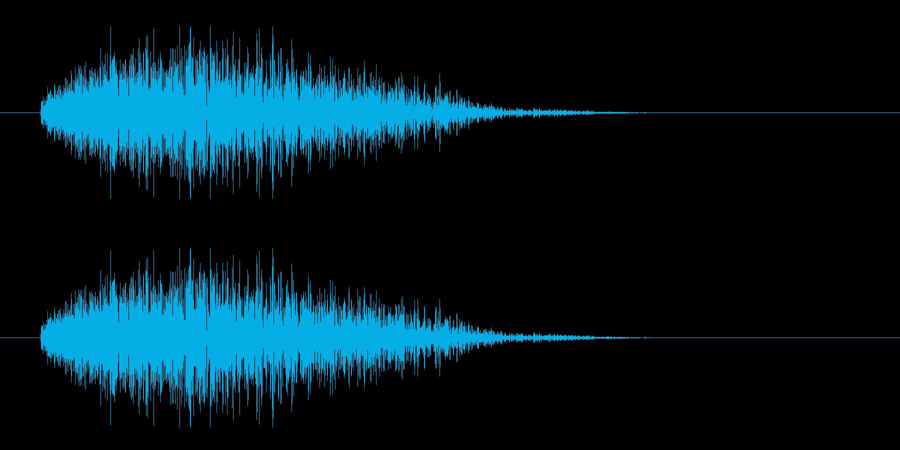 レーザー音-21-3の再生済みの波形