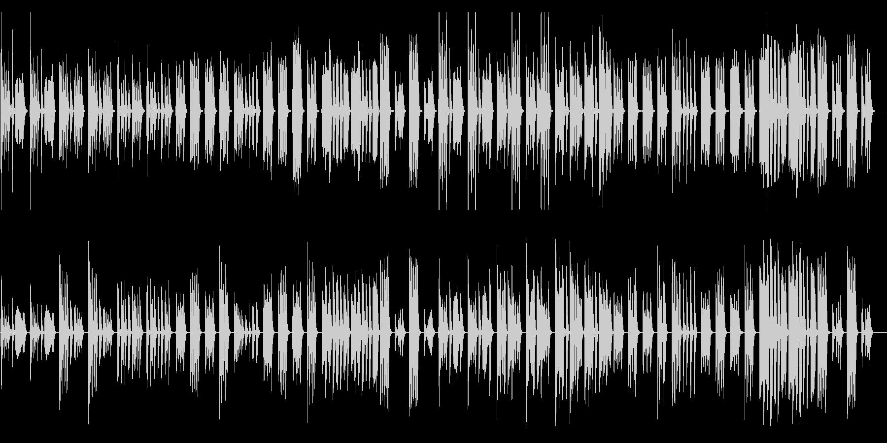 コミカルおとぼけ、ほのぼの系/ドラム抜きの未再生の波形