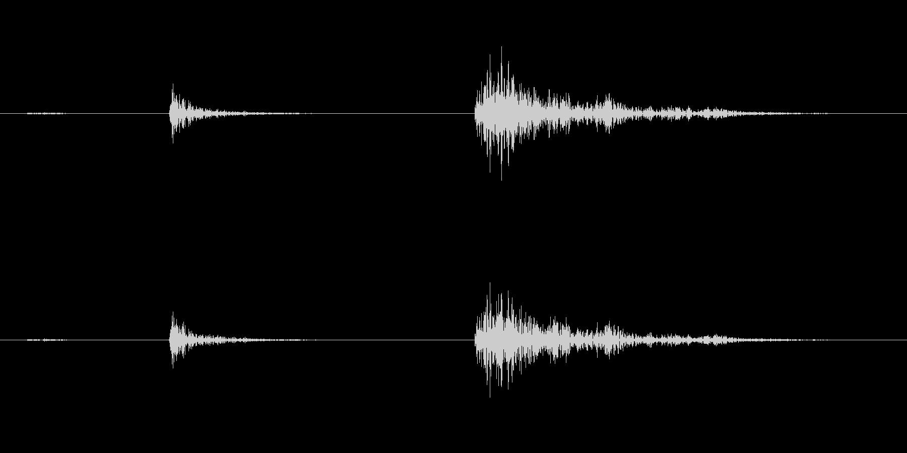【生録音】弁当・惣菜パックの音14 カラの未再生の波形