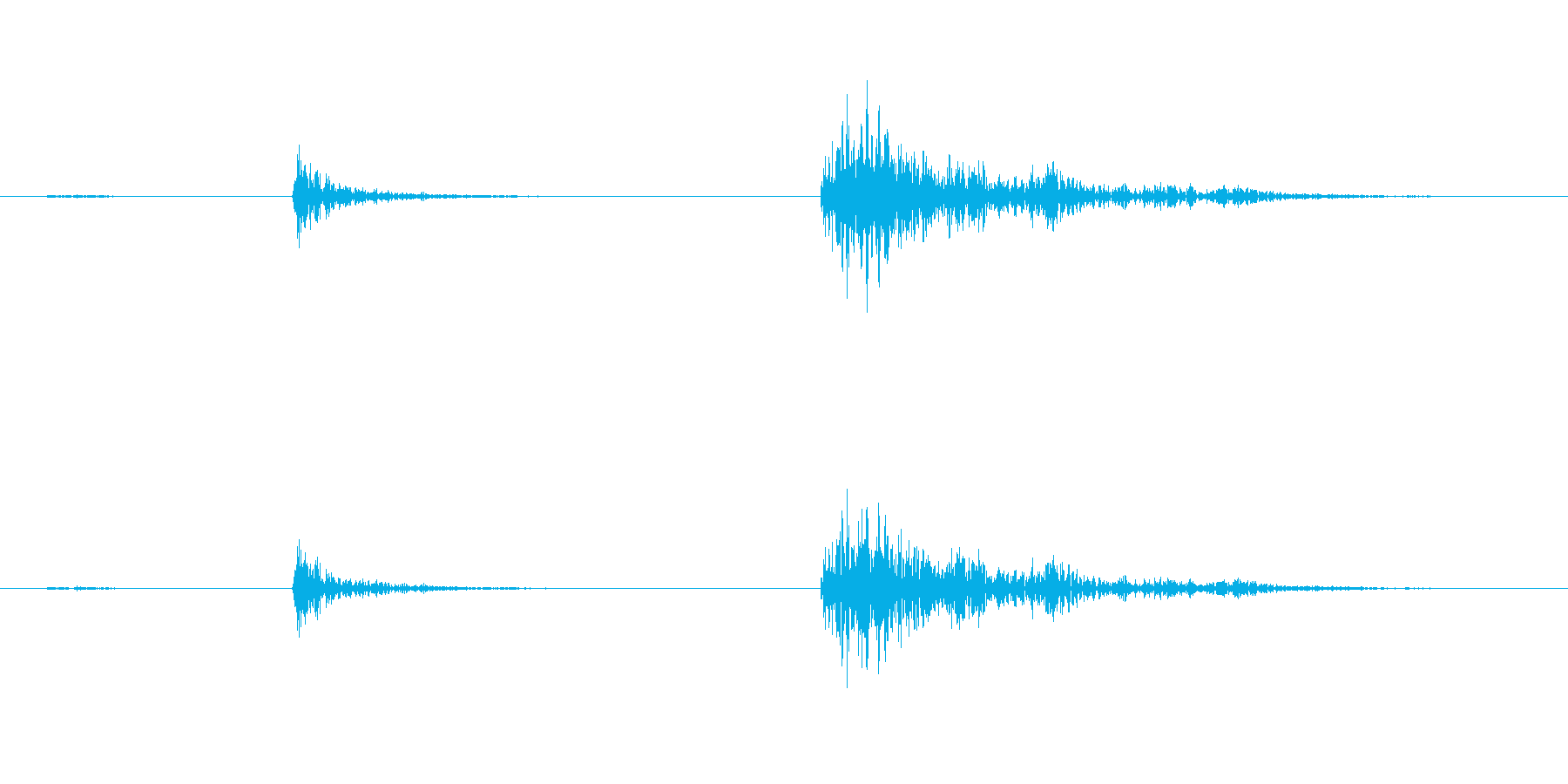 【生録音】弁当・惣菜パックの音14 カラの再生済みの波形