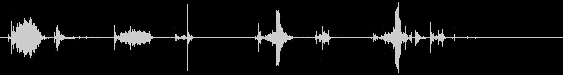 スプレーで連続して噴霧する音2の未再生の波形