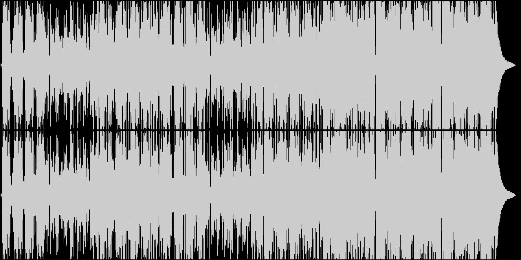 ほがらかで力強いポップスの未再生の波形