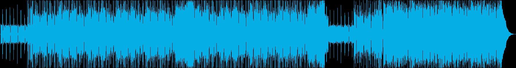 洋楽風のファンキーでお洒落インディロックの再生済みの波形