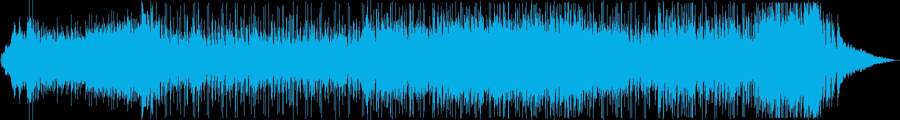 近未来的で疾走感のあるピアノテクノポップの再生済みの波形