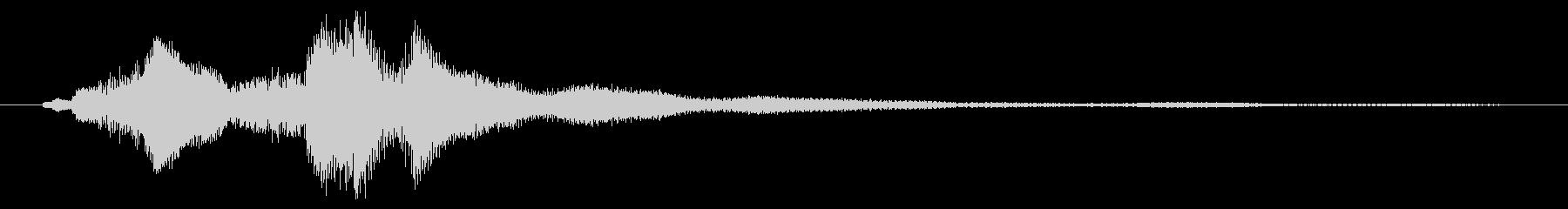 ハープグリッサンド下行1回上行1回~Cの未再生の波形