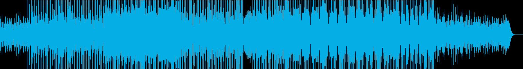 オルガン エレキギター 楽しく激しい曲の再生済みの波形