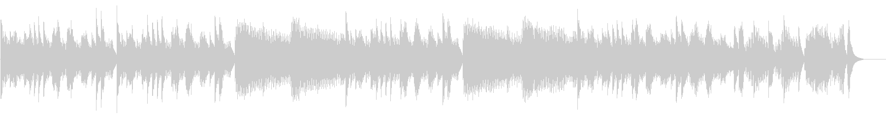 キラキラ星変奏曲(VarXⅡ)オルゴールの未再生の波形