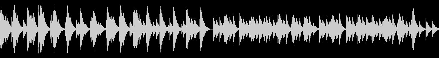優しくてしんみりするBGM(ループ)の未再生の波形