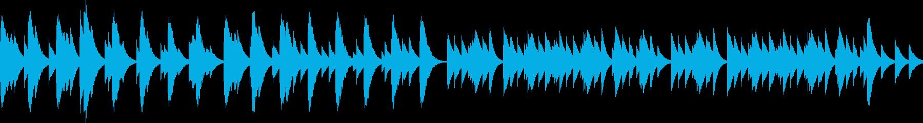 優しくてしんみりするBGM(ループ)の再生済みの波形