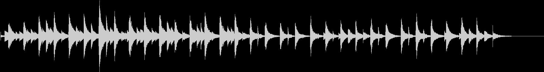 オルゴールの悲しいショートストーリの未再生の波形