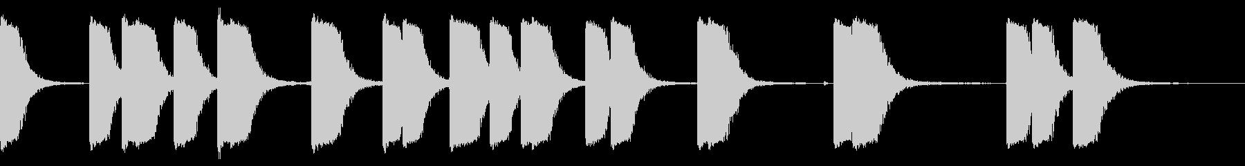 ガンショットマルチインテリアの未再生の波形