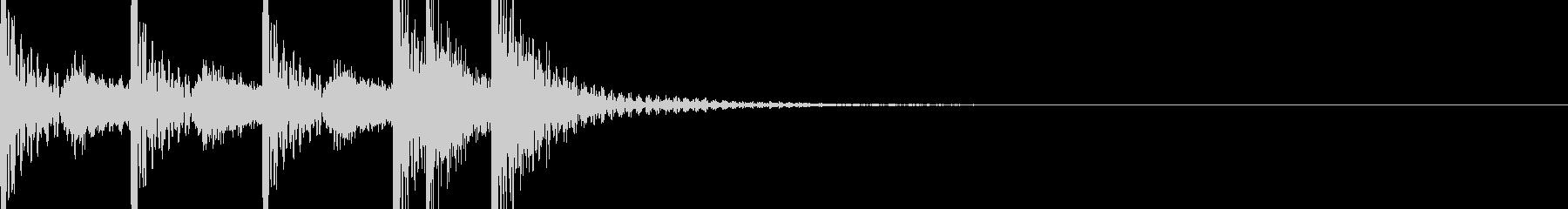 場面転換や合図などに使える転換SEです。の未再生の波形