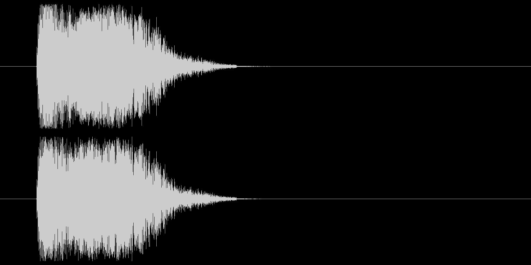打撃音_ダメージ音の未再生の波形