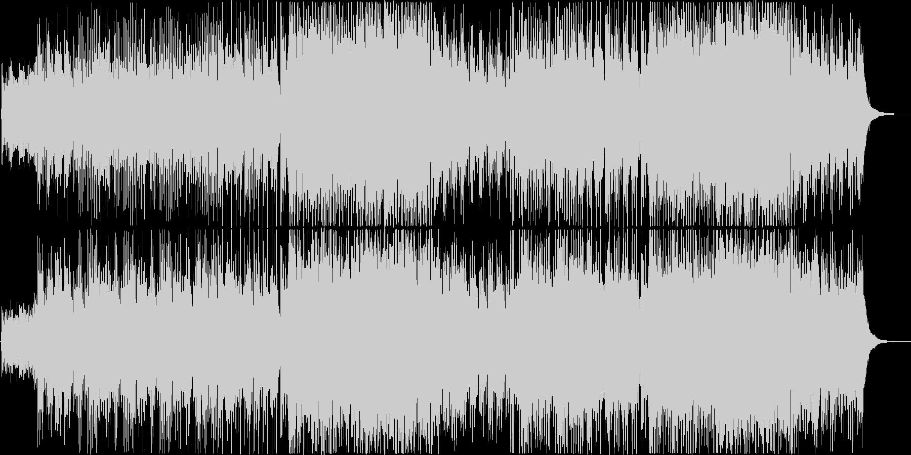 ピアノが煌びやかなジャズワルツの未再生の波形