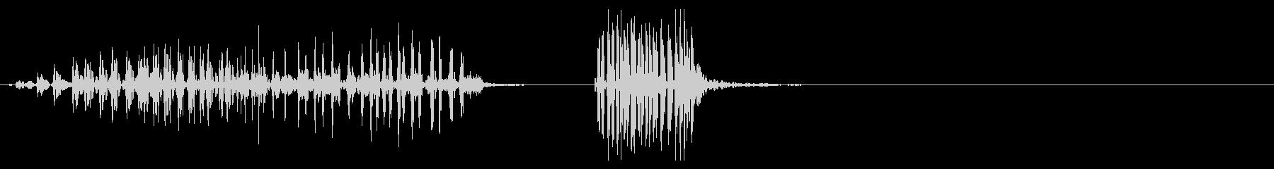 ジャー!ファスナー、チャックの音10の未再生の波形