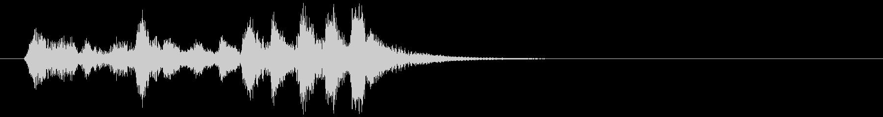 魔法、木管のコミカルなロゴ・ジングルの未再生の波形